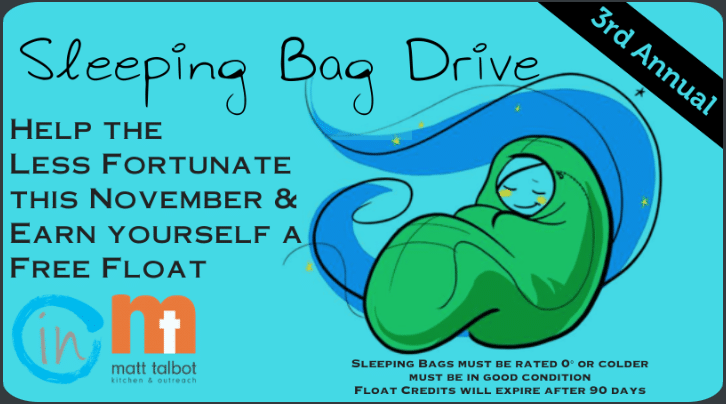 3rd Annual Sleeping Bag Drive