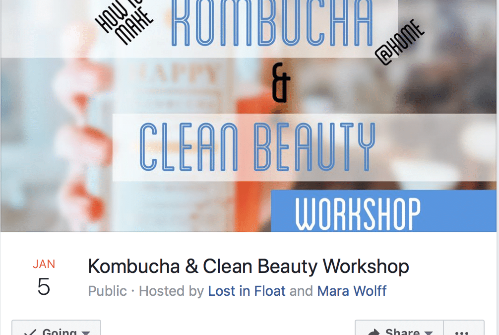 Kombucha and Clean Beauty Workshop